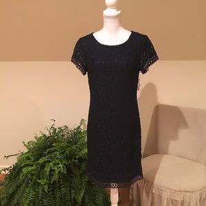 NWT Laundry by Shelli Segal-Navy Cocktail Dress